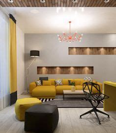 Two Lovely Apartments Featuring Wood Paneling by Slatted Wood Detail Interior Divider