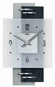 Horloge Murale Moderne : horloge murale moderne en placage ardoise et verre horloge murale 1001 pendules ~ Teatrodelosmanantiales.com Idées de Décoration