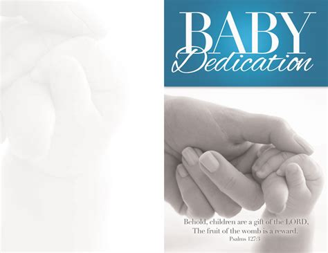 baby dedication bulletin church bulletins outreach