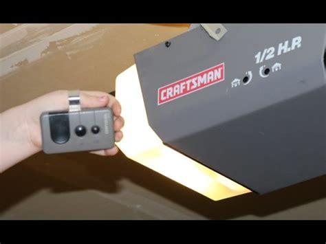 program craftsman garage door opener how to program craftsman garage door opener remote diy 1 2