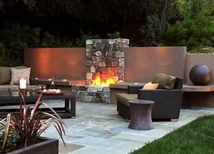 84 verbluffende fotos von feuerstelle fur terrasse With feuerstelle garten mit sichtschutz für balkon