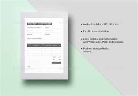 inventory form templates  sample