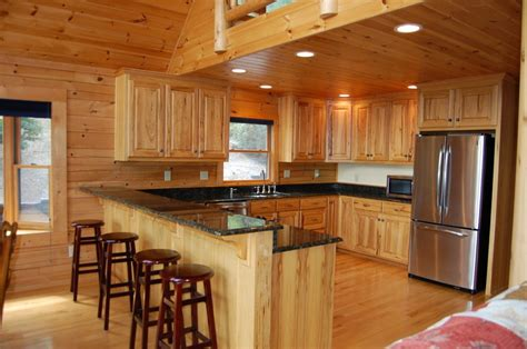 hickory cabinets with granite countertops brown hairs