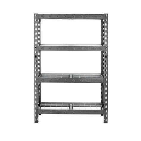 gladiator welded steel garage shelving unit gladiator 72 in h x 48 in w x 18 in d 4 shelf welded