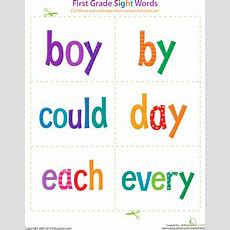 First Grade Sight Words Boy To Every  Boys, Tape And 1st Grades