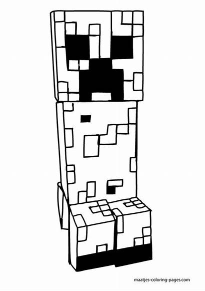 Minecraft Coloring Pages Printable Creeper Mine Creepers