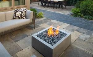 Brasero De Terrasse : brasero gaz integre sur terrasse de jardin en dalle ~ Premium-room.com Idées de Décoration