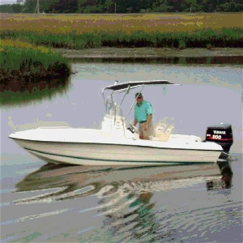 Folding T Top For Center Console Boats by Shadow T Folding T Top Kit 10 Year Warranty