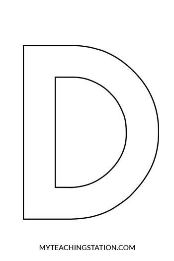 letter d template letter d craft myteachingstation