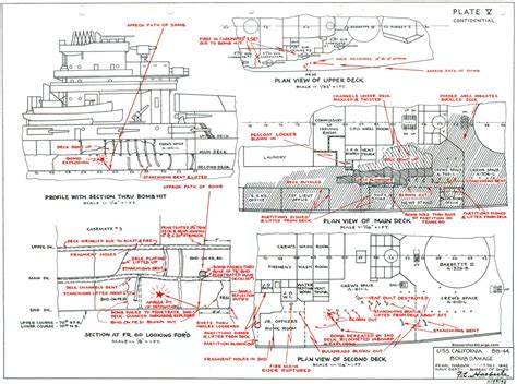 pearl deck plan 5 researcher large bb 44 uss california pearl harbor