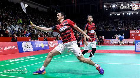 indonesia masters duel juara dunia ganda putra