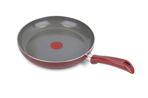fal forte ceramiccontrol nonstick enameled fry pan  red cutlery