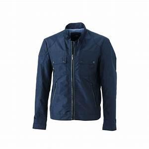 Blouson Homme Bleu Marine : veste blouson style biker motard homme jn1094 bleu marine ~ Melissatoandfro.com Idées de Décoration
