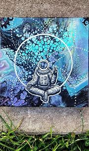 trippy astronaut original fluid art   Art, Fluid art, Artwork