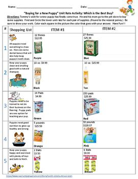 comparing unit rates and math worksheets comparing best