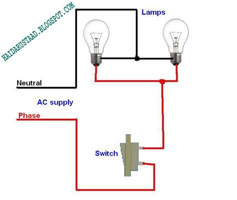 How Control Lamps Bulbs One Way Switch Parallel