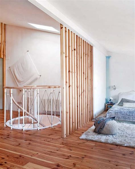 bedroom attic claustras intérieurs en bois poligom