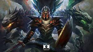 Bilder DOTA 2 Dragon Knight Dota 2 Drache Schwert Rstung