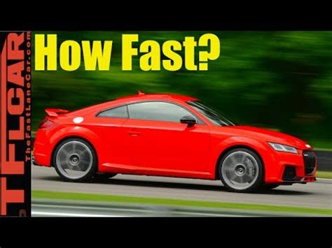 fast     hp audi tt rs    mph youtube