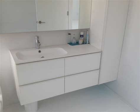 Bathroom Sink And Cabinet Ikea by Ikea Godmorgon With Different Sink And Wall Cabinet