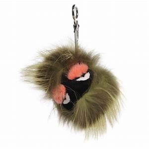 FENDI Rabbit Mink Fox Fur Kooky Monster Bag Bug Charm 98359