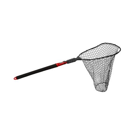 Large Boat Landing Net by Ego S2 Slider 72035 Large Landing Net Rubber Mesh