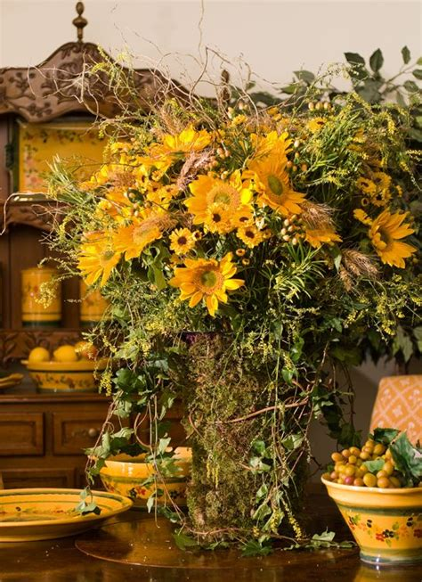 french country floral arrangements images