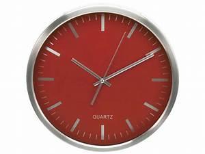 Horloge Murale Rouge : horloge 30 cm clocky coloris rouge chez conforama ~ Teatrodelosmanantiales.com Idées de Décoration