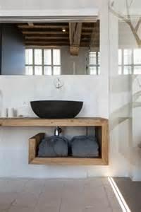 handtuchhalter badezimmer waschtisch aus holz für mehr gemütlichkeit im bad archzine net