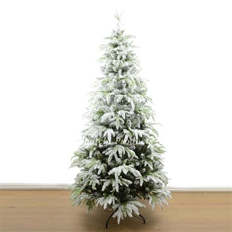 snow covered artificial christmas trees real look designer artificial christmas tree snow covered 8333