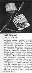 1960  Ami U0026 39 S Fast Change Credit System   U0026quot Provides Dual