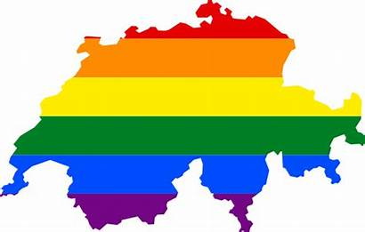 Switzerland Lgbt Map Svg Flag Suisse Soubor
