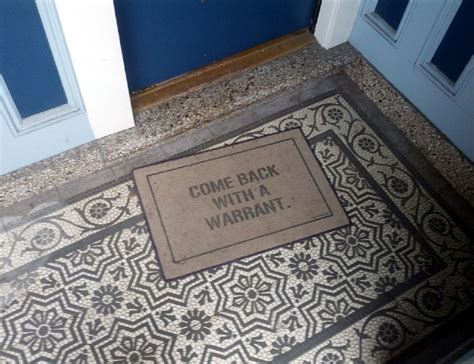 Warrant Doormat by Come Back With A Warrant Doormat 187 Gadget Flow
