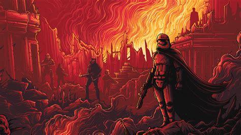 ap captain phasma starwars red film art wallpaper