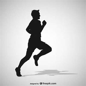 Running man silhouette Vector   Free Download