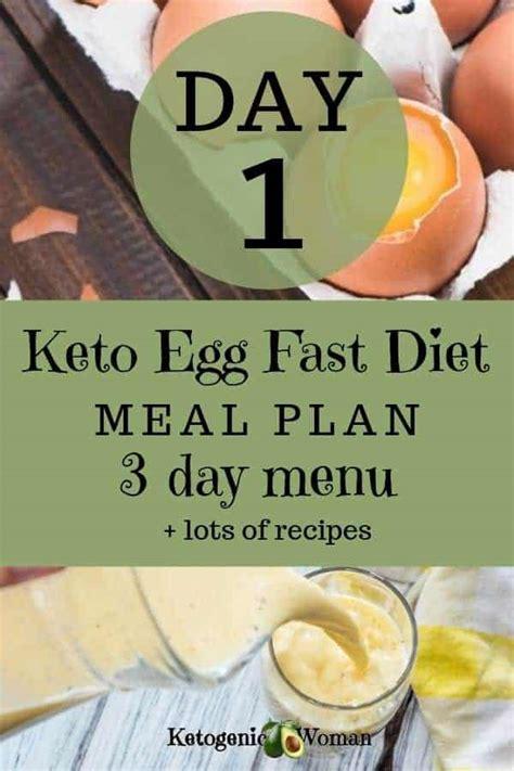 keto egg fast meal plan menu day  ketogenic woman