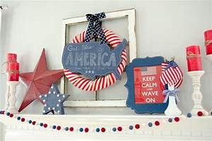 Craftaholics Anonymous 4th Of July Mantle Decor