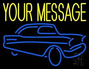Custom Blue Car Logo Neon Sign Custom Neon Signs
