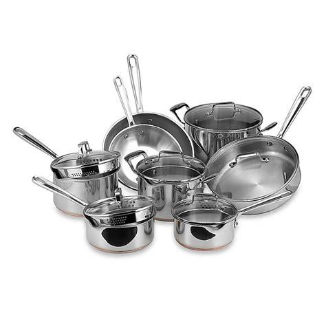 emerilware stainless steel  piece cookware set bed bath