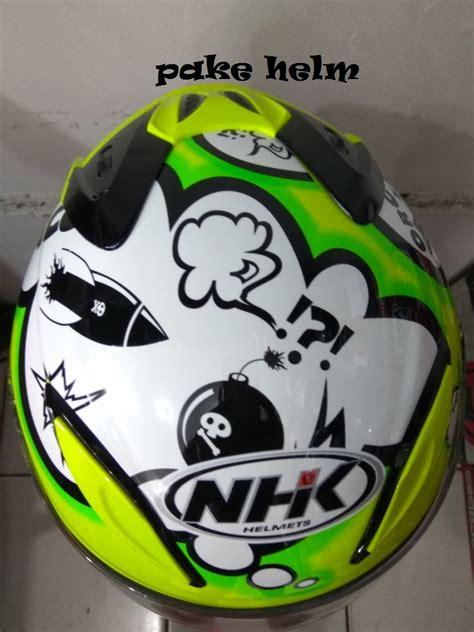 Half Helm Nhk R6 R 6 White helm nhk r6 green fluo half daftar update
