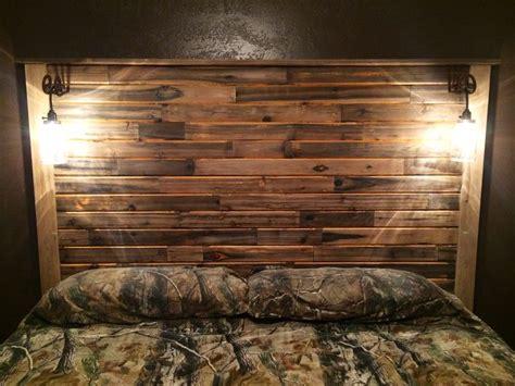headboard  recycled tongue  groove cedar homemade
