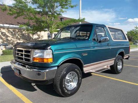 purchase   ford bronco eddie bauer sport utility
