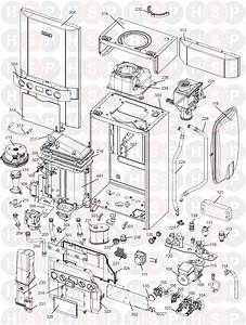 Ideal Logic Code Combi 38  Boiler Exploded View Diagram