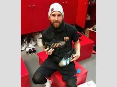 Lionel Messi receives stunning handpainted boots from fan