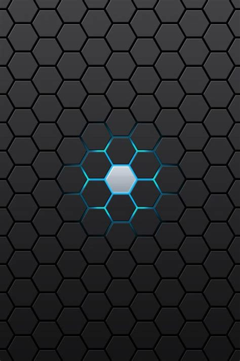Abstract Black Hd Wallpapers For Iphone by Abstract Black Hexagon Iphone 4 Wallpapers Free 640x960 Hd