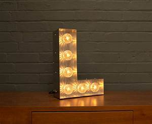 light up marquee bulb letters l by goodwin goodwin With lighted letter l