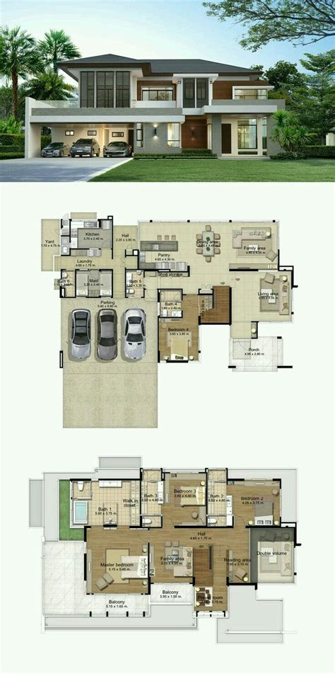 Modern House Layout by Big House Layout Houses Planning แปลนบ าน บ านในฝ น