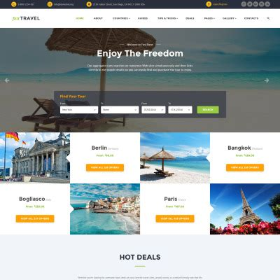 travel agency website templates
