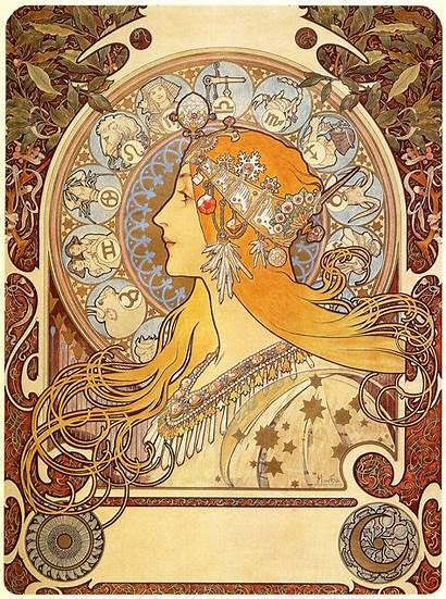 Nouveau Zodiac Artnouveau Movement History Want Aestheticism