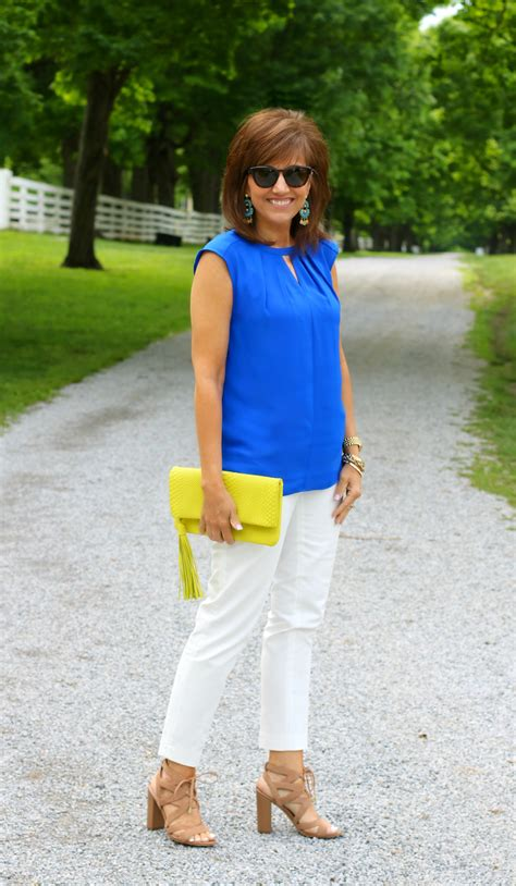 Royal Blue And Yellow Outfit for Spring - Cyndi Spivey